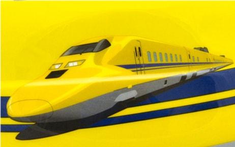 両サイドには、新幹線のかっこいいイラストが!